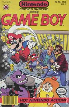 Nintendo Comics System #1 MARIO GETS SOME HOT NINTENDO ACTION