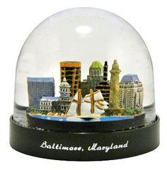 Baltimore, Maryland snow globe from   snowdomes.com
