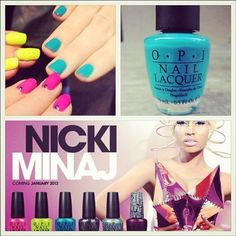 Nicki Minaj / OPI Fly - I forsee a CMYK manicure in the near future.