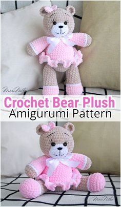 I have rounded up a huge list of free crochet teddy bear patterns for you to get inspired by these cute and soft teddy bears. You could absolutely make them with your own crochet hooks Crochet Teddy Bear Pattern, Crochet Animal Patterns, Stuffed Animal Patterns, Amigurumi Patterns, Crochet Animals, Crochet Teddy Bears, Stuffed Animals, Crochet Dolls, Crochet Baby