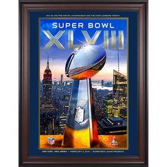 "Fanatics Authentic 2014 Seattle Seahawks vs. Denver Broncos Framed 36"" x 48"" Canvas Super Bowl XLVIII Program - $239.99"