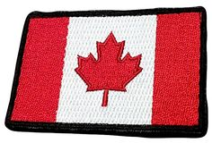 """[Single Count] Custom, Cool & Awesome x Inches} Small Rectangle National Canada Vertical Stripes Canadian Leaf (Tactical Type) Velcro Patch """"Black, Red & White"""" mySimple Products Canadian Leaf, Velcro Patches, Hook And Loop Fastener, Vertical Stripes, Red And White, Black, Custom Stickers, Badass, Sewing Crafts"""