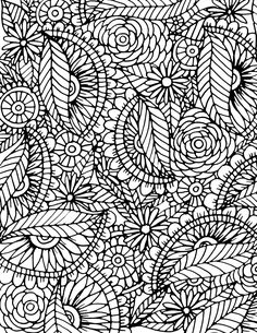 alisaburke: adult coloring pages Free Adult Coloring, Adult Coloring Book Pages, Flower Coloring Pages, Mandala Coloring, Free Coloring Pages, Coloring Books, Pattern Coloring Pages, Doodles, Black And White Drawing