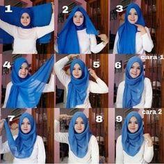 Hasil gambar untuk blue top hijab