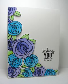 Simon Says Stamps stamp set -Masked Roses | Flickr - Photo Sharing!