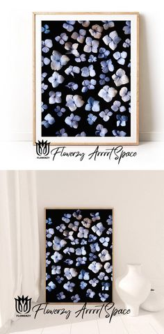 Floral Bedroom, Bedroom Art, Big Photo, Photo Blue, Blue Hydrangea, Blue Flowers, Etsy Handmade, Handmade Gifts, White Colors