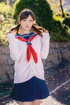 Girl in Uniform 😘 School Uniform Fashion, Japanese School Uniform, School Uniform Girls, Girls Uniforms, School Uniforms, Asian Image, School Girl Dress, Beautiful Japanese Girl, Sailor Fashion