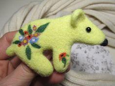 Her birthday original gift bear jewelry Brooch by FeltAccessories