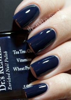 Dr.'s Remedy Enriched 5-Free Nail Polish in Noble Navy | petitvour.com