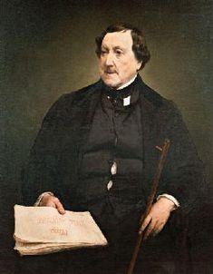 Francesco Hayez - Portrait of the composer Gioachino Antonio Rossini (1792-1868)