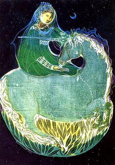 """Green Unicorn"" par Susan Seddon Boulet"