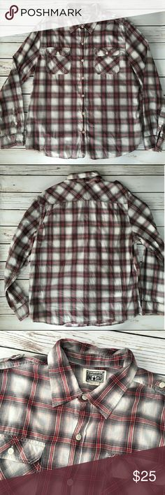 CONVERSE Plaid Button Down NWOT. Never worn. Perfect condition. Dont miss out on this great deal! Converse Shirts Casual Button Down Shirts