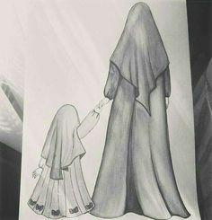 Sukur-u Language Salamet Human - - Sad Drawings, Girl Drawing Sketches, Cute Girl Drawing, Girly Drawings, Girl Sketch, Sketch Painting, Drawing Drawing, Hijab Drawing, Anime Muslim