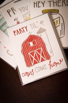 Party til' the cows come home... cute printing company in savannah, georgia!