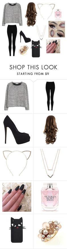 """""""Ariana Grande inspired"""" by lauren-mcauliffe14 ❤ liked on Polyvore featuring MANGO, M&S Collection, Giuseppe Zanotti, Cara, Michael Kors, Victoria's Secret and Mimí"""