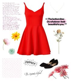"""""""Little Red Dress~"""" by camroncavanaugh ❤ liked on Polyvore featuring Humble Chic and Monsoon"""
