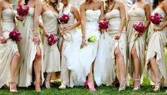 all white/cream bridal party dresses dream-wedding Cream Bridesmaid Dresses, Wedding Bridesmaids, Junior Bridesmaids, Bridesmaid Inspiration, Wedding Inspiration, Wedding Ideas, Wedding Photos, Wedding Planning, Bridal Party Dresses