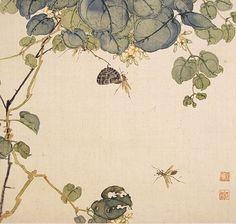 秋色波连波的相册-清 居廉 花卉奇石册十二开及其它