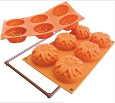 Silikomart Silicone Fancy and Function Bakeware Collection Multi Cake Pan, Sunflower *** More forbidden discounts at the link of image : Baking essentials Candy Making, Mold Making, Easter Recipes, Holiday Recipes, Diy Fest, Sunflower Cakes, Cupcake Pans, Tart Pan, Easter Cupcakes