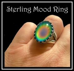 Mood Ring Sterling Silver with Vivid Fast Color Changes...this one is a lot more expensive than one of my favorite gifts ever back in the dy