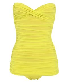 NORMA KAMALI   'WALTER MIO' RUCHED BANDEAU SWIMSUIT