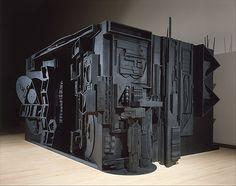 Louise Nevelson's wooden sculpture