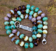Dream boho knotted necklace - Beaded charm jewelry, artisan rustic bohemian chic by Mollymoojewels on Etsy https://www.etsy.com/listing/212545269/dream-boho-knotted-necklace-beaded-charm