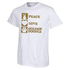 Peace Love Goldendoodle - Gildan T-Shirt