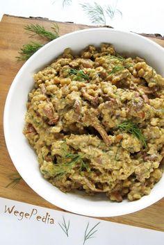 Wegańskie KASZOTTO zgrzybami ikoperkiem – przepis fit Vegan Menu, Vegan Recipes, Vegan Food, Fried Rice, Bon Appetit, Tofu, Risotto, Curry, Food Porn