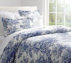 Matine Toile Duvet Cover & Sham - Twilight Blue #potterybarn