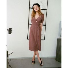 Gabin dress - Rouje ❤ - cute dress - example of same color in two places Looks Street Style, Looks Style, Style Me, Mode Outfits, Fashion Outfits, Fashion Trends, Mode Lookbook, Mode Ootd, Retro Mode