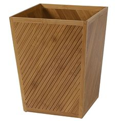 Creative Bath Products Spa Bamboo Waste Basket *** You can get additional details at the image link.