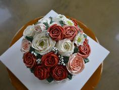 basket flower cake#rose cake www.ginniecake.com
