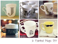 6 Diseños para Pintar Tazas con las que animarte las mañanas #DIY #inspiración