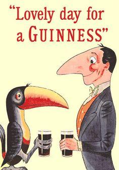 Lovely Day For A Guinness Poster Guinness, Vintage Advertisements, Vintage Ads, Vintage Logos, Retro Logos, Retro Ads, Vintage Labels, Vintage Travel, Posters Vintage
