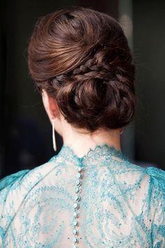 Los mil y un peinados de Kate Middleton; Moño con trenzas