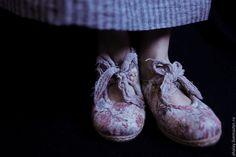 Купить Туфли Мэри Джейн летние женские из войлока ручной работы - туфли валяные