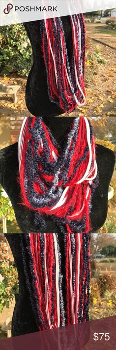 Multi textured knotted strands infinity scarf A fashion statement piece to any wardrobe Second Nature Designs by cc Accessories Scarves & Wraps