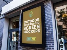 Free Outdoor Advertising Screen Mock-Up 2 on Behance Mockups Gratis, Outdoor Screens, Behance, Photoshop, Healthy Shopping, Healthy Food Delivery, Restaurant Week, Advertising Signs, Screen Shot