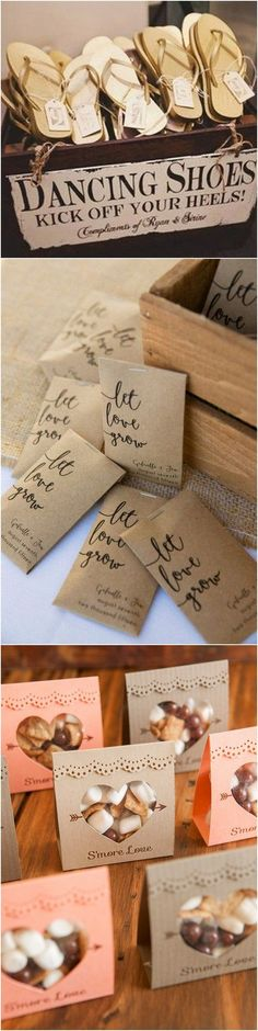 creative wedding favor ideas