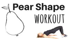 PEAR SHAPE WORKOUT - LOWER BODY EXERCISE REAL TIME ROUTINE -Tone your th...
