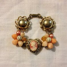 Bracelet from Upcycled Vintage Earrings by heartsoftoday on Etsy, $40.00