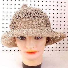 2e3df77a43a Crochet Hat Women Hat SHADY LADY Straw Hat by strawberrycouture