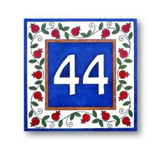 Custom House Number Address Sign Address Numbers by AyeBarDesigns