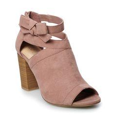 LC Lauren Conrad Java Women's Peep Toe Boots, Size: 10, Dark Pink