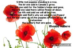 Kindergarten Poems, Remembrance Day, Red Poppies, Little Red, November, Christmas, November Born, Xmas, Anniversaries