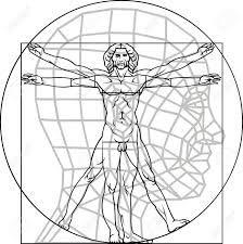 Skeleton. Vitruvian Man Leonardo Da Vinci. Skeleton. #