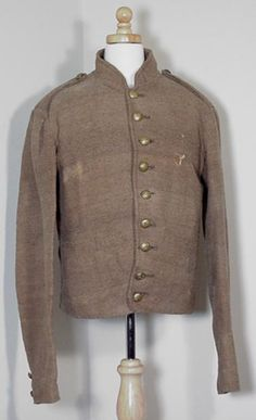 Confederate Shell Jacket Worn by Pvt. James L. Stephens Company C, 3rd Battalion Tennessee Cavalry, Army of Tennessee, C.S.A.