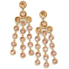 kate spade new york chandelier earrings (5.780 RUB) ❤ liked on Polyvore featuring jewelry, earrings, blush multi, chandelier jewelry, bezel earrings, post earrings, kate spade earrings and bezel jewelry