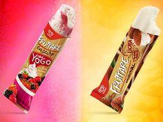 Novos sabores da linha de sorvetes Fruttare da Kibon: Lichia e Yogo